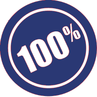 100 per cent satisfaction guarantee