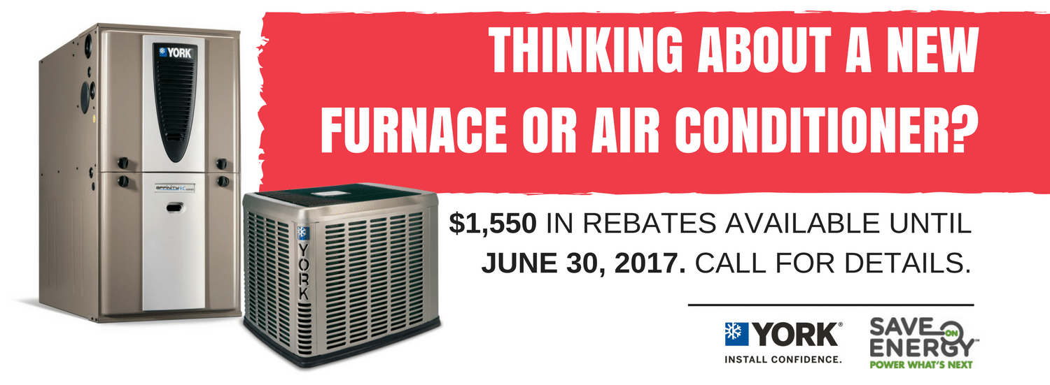 Rebates available on new furnaces and air conditioners