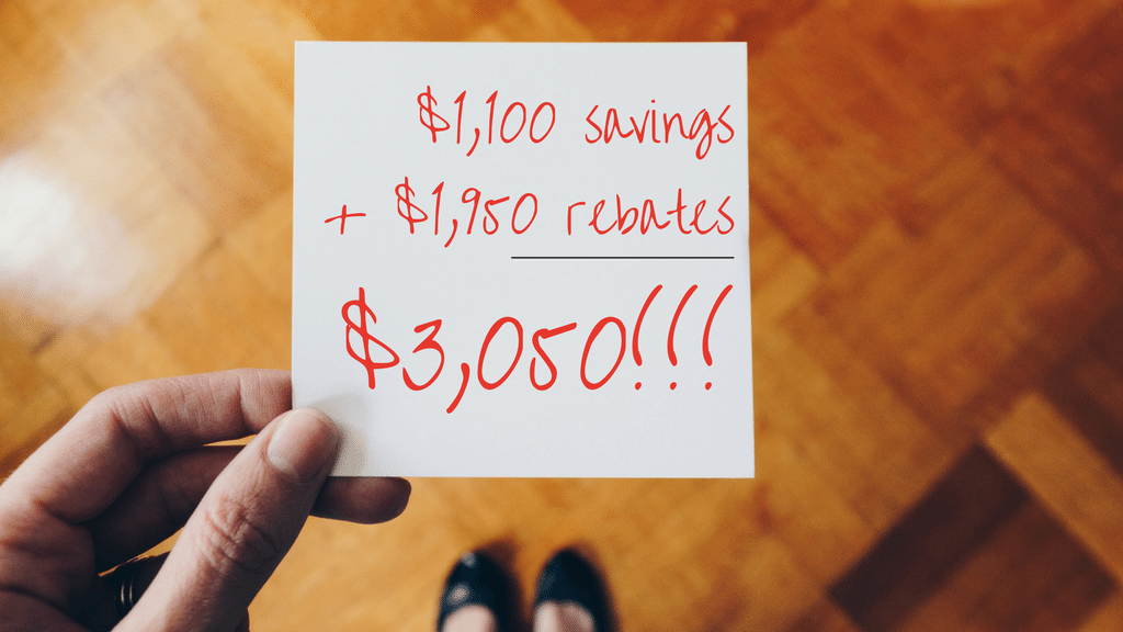 Rebates and special savings available on select furnaces