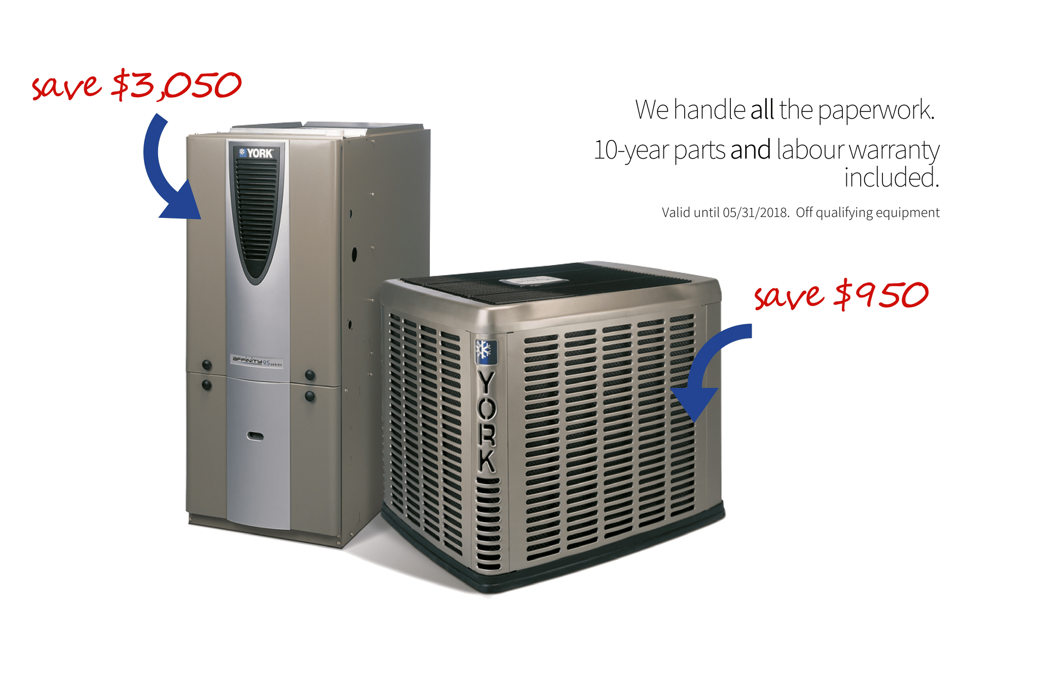 Rebates available on furnaces and air conditioners