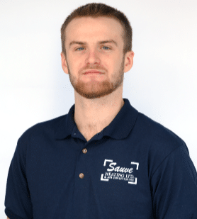 Head shot of Sauve Heating employee, Hayden Adams